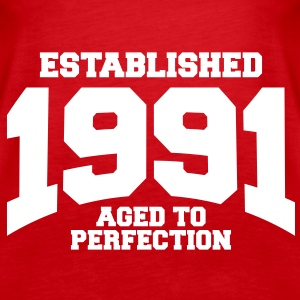 aged to perfection established 1991 (sv) Toppar - Premiumtanktopp dam