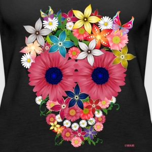 skull flowers by wam Topper - Premium singlet for kvinner