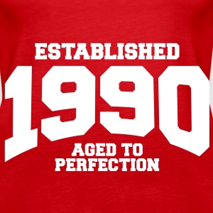 aged to perfection established 1990 (sv) Toppar - Premiumtanktopp dam