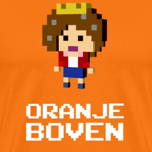 Queen Beatrix Orange Dutch on top T-Shirts - Men's Premium T-Shirt