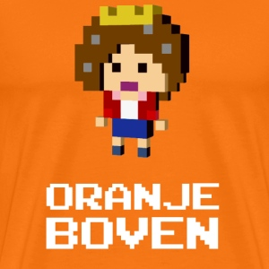 Queen Beatrix Orange Dutch on top T-shirts - Mannen Premium T-shirt