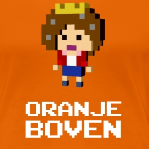 Queen Beatrix Orange Dutch on top T-Shirts - Women's Premium T-Shirt