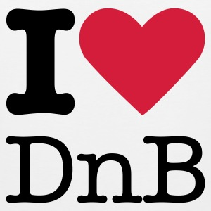 I Love DnB T-Shirts - Men's Premium Tank Top