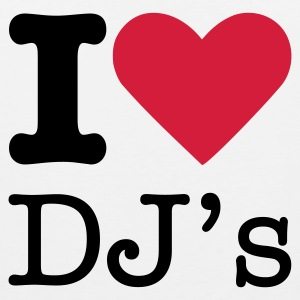 I Love DJ's T-Shirts - Men's Premium Tank Top