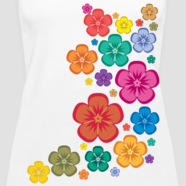 New Age Flower Power schulterfreies Tank Top