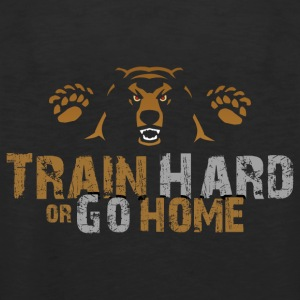 Train Hard or Go Home Back Trans - Muscle Shirt - Männer Premium Tank Top