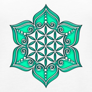 Fleur de Vie - Flower of life, Lotus - Flower, Heart Chakra, green, Symbol of perfection and  Débardeurs - Débardeur Premium Femme
