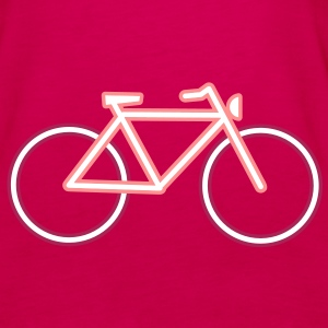 A bicycle made ​​of neon tubes Tops - Women's Premium Tank Top