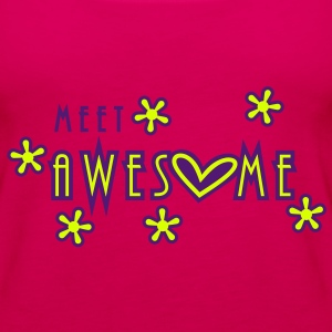 meet awesome (2c) Tops - Women's Premium Tank Top