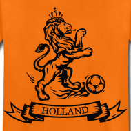 Design ~ Nederlandse retro Oranje voetbal leeuw Kinder shirts