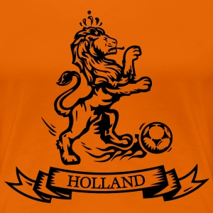 Vintage Dutch Football lion Holland jersey T-Shirts - Women's Premium T-Shirt
