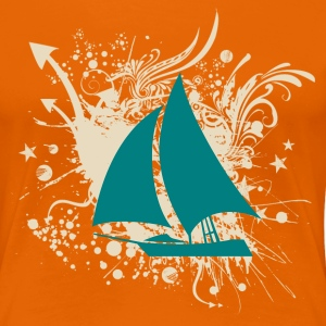 Sailboat T-shirt - Women's Premium T-Shirt
