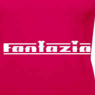 Design ~ Fantazia Spaghetti top with logos to front and back Glow in the dark