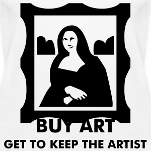Monalisa - Art - Starving Artist Tops - Women's Premium Tank Top