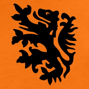 oranje kindershirt met retro leeuwtje - Teenager Premium T-shirt