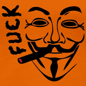 anonymous masque mask cigare fumer fuck1 Tee shirts - T-shirt Premium Femme
