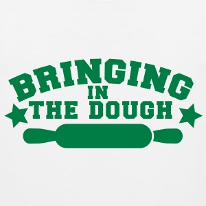 BRINGING in the DOUGH bakers chef cooking joke T-Shirts - Men's Premium Tank Top