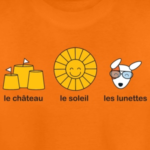 French course for sunny summer beach weather Kids' Shirts - Teenage Premium T-Shirt