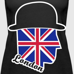 UK Gentleman, Gentleman, England, London, United Kingdom, cities, Städte, Flaggen, flags, Great Britain, Fahnen, www.eushirt.com Tops - Frauen Premium Tank Top