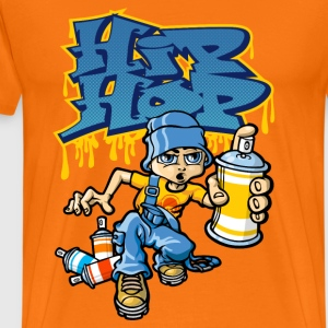 B-boy and hip-hop graffiti - T-shirt Premium Homme