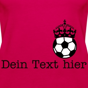 soccer crown Tops - Vrouwen Premium tank top