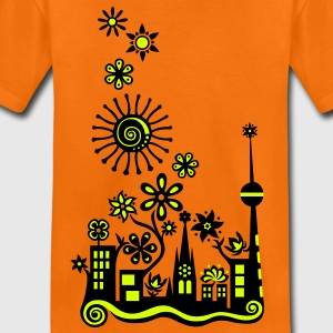 Guerilla Gardening!, c, Auf die Plätze - Saatbombe los! Let's fight the filth with forks and flowers! T-shirt bambini - Maglietta Premium per bambini