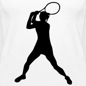 Tennisspielerin, Tennis Tops - Frauen Premium Tank Top