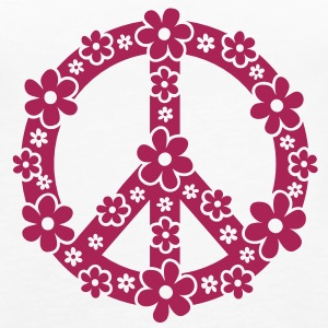 PEACE SYMBOL - simbolo di pace, c, symbol of freedom, flower power, hippie, 68er movement, Woodstock Top - Canotta premium da donna