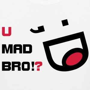 u mad bro? funny meme v1 T-Shirts - Men's Premium Tank Top