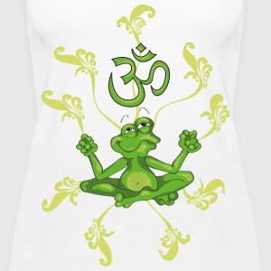 The frog sings the OM at his Yoga-Lesson Tops - Women's Premium Tank Top