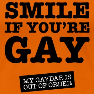 Smile If You're Gay Tee shirts - T-shirt Premium Femme