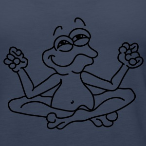 Little frog in the  position meditating Tops - Women's Premium Tank Top