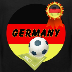 Germany Football Team supporter pitch & Rosette - Men's Premium Tank Top