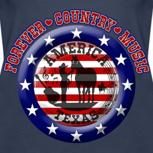 forever country music america texas Tops - Women's Premium Tank Top