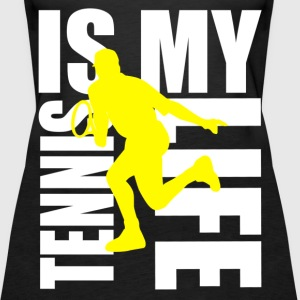 tennis is my life Topper - Premium singlet for kvinner