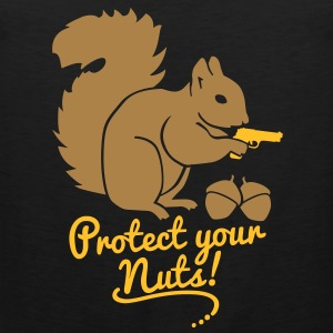 protect your nuts T-Shirts - Männer Premium Tank Top