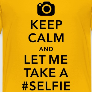funny Keep calm take a selfie #selfie meme Shirts - Teenage Premium T-Shirt