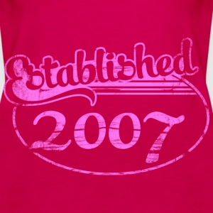 established 2007 (es) Tops - Camiseta de tirantes premium mujer