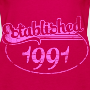 established 1991 dd (es) Tops - Camiseta de tirantes premium mujer