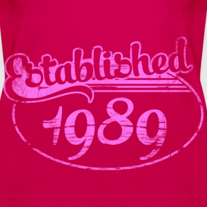 established 1989 dd (es) Tops - Camiseta de tirantes premium mujer