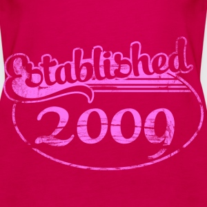 established 2009 (es) Tops - Camiseta de tirantes premium mujer