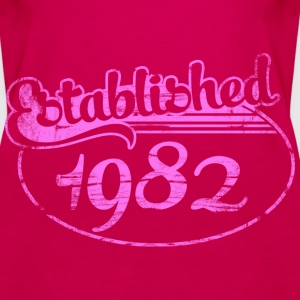 established 1982 dd (es) Tops - Camiseta de tirantes premium mujer