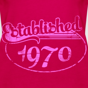 established 1970 dd (es) Tops - Camiseta de tirantes premium mujer