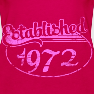 established 1972 dd (es) Tops - Camiseta de tirantes premium mujer