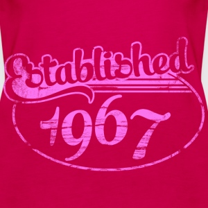 established 1967 dd (es) Tops - Camiseta de tirantes premium mujer