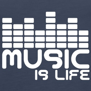 Music is life with equaliser  Toppe - Dame Premium tanktop
