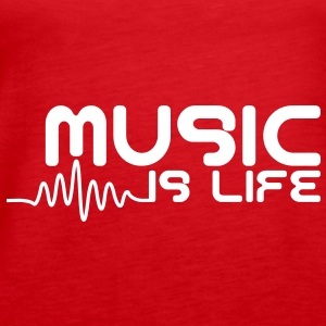 Music is life with pulse Tops - Women's Premium Tank Top