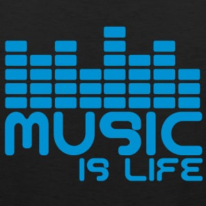 Music is life with equaliser  T-Shirts - Männer Premium Tank Top
