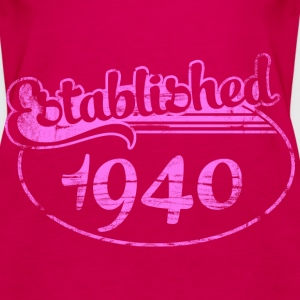 established 1940 dd (es) Tops - Camiseta de tirantes premium mujer