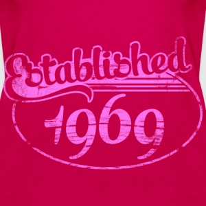 established 1969 dd (es) Tops - Camiseta de tirantes premium mujer